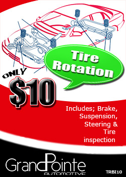 Tire Rotation $10 Flint mi