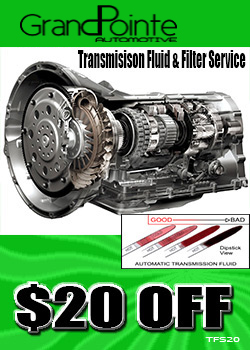 Transmission fluid and filter save $20 Flint mi